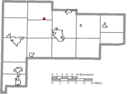 Location of Buckland in Auglaize County