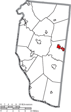 Location of Williamsburg in Clermont County