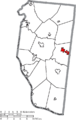 Map of Clermont County Ohio Highlighting Williamsburg Village.png