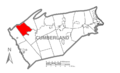 Map of Cumberland County Pennsylvania Highlighting Upper Mifflin Township.PNG