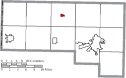 Location of Ney in Defiance County