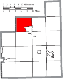 Location of Chardon Township in Geauga County