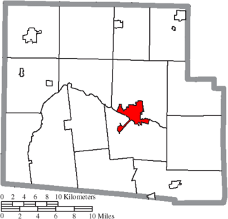 Kenton, Ohio - Image: Map of Hardin County Ohio Highlighting Kenton City