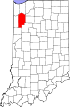 State map highlighting Jasper County