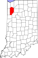 Map of Indiana highlighting Jasper County.svg