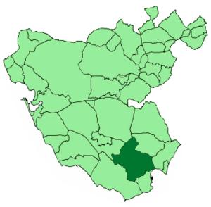 Los Barrios - Image: Map of Los Barrios (Cádiz)
