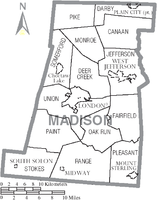 Municipalities and townships of Madison County.