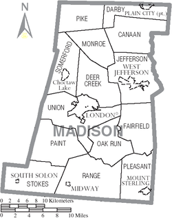 Municipalities and townships of Madison County