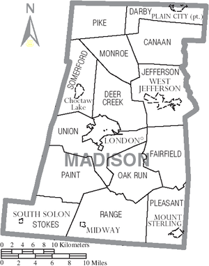 Map Of Madison County Ohio  The Full Wiki