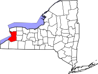 Map of New York highlighting Erie County.svg