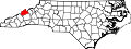 Map of North Carolina highlighting Madison County.svg