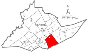 Potter Township, Centre County, Pennsylvania - Image: Map of Potter Township, Centre County, Pennsylvania Highlighted