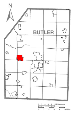 Map of Prospect, Butler County, Pennsylvania Highlighted.png