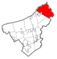 Map of Upper Mount Bethel Township, Northampton County, Pennsylvania Highlighted.png