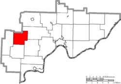 Location of Palmer Township in Washington County