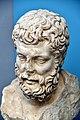Marble bust of Metrodorus. Roman copy (2nd century CE) of an original (c. 277 BCE). Altes Museum, Berlin.jpg
