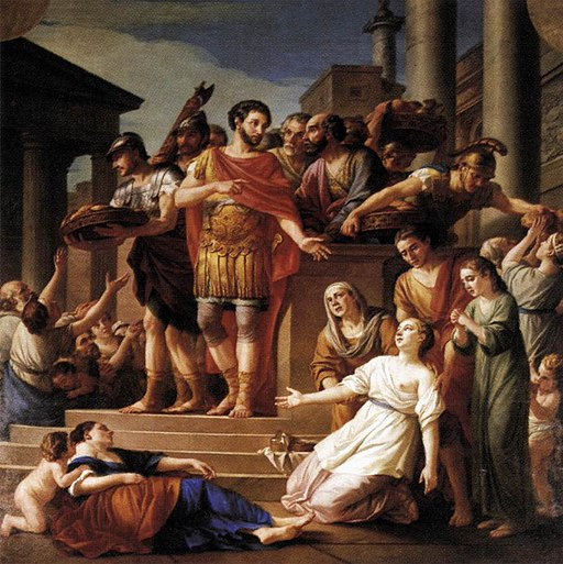 Marcus Aurelius Distributing Bread to the People 1765 Joseph-Marie Vien
