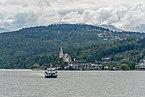 Maria Wörth Pfarrkirche hll. Primus und Felizian und MS Klagenfurt NW-Ansicht 06052019 6733.jpg