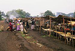 Mercado tradicional en el suroeste de Uganda.