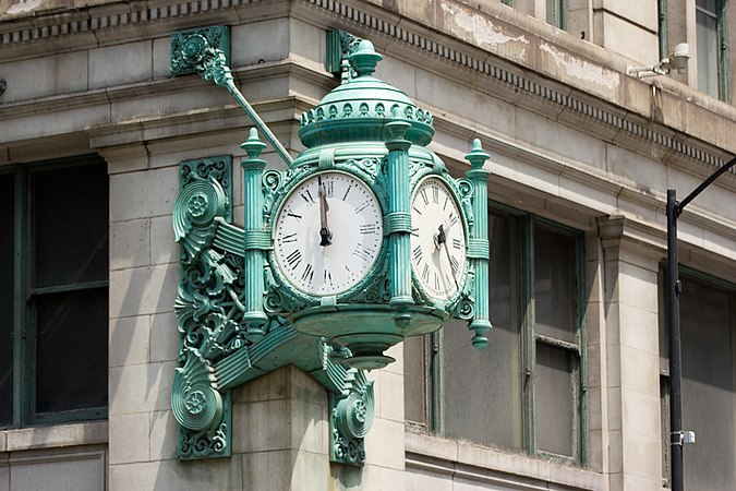 Marshall Field and Company Clock Chicago June 30, 2012-126.jpg