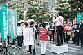 Masahiro Ishida and the audience, Marking flag for candidates. (48206157317).jpg