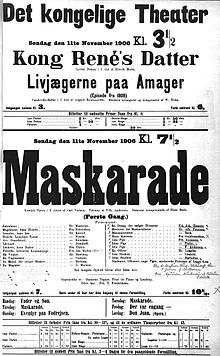 Maskarade by Carl Nielsen - world premiere poster 1906.jpg