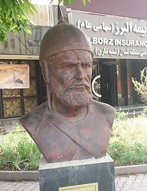 Mazyar - Bust of Mazyar in Sari, Iran