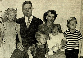 Bruce R. McConkie - McConkie with his wife, Amelia, and their children, ca. 1946.