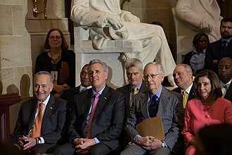 Congressional leaders in January 2020 MedalCeremony 1 011520 (33 of 69) (49396292527).jpg