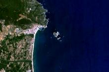 Le isole Medas viste dal satellite
