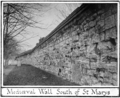 Mediaeval leicester billson f123 Medieval Wall south of St Marys Church.png