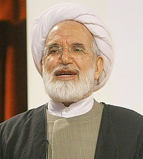 Mehdi Karroubi Iranian reformist politician, democracy activist, mojtahed, and chairman of the National Trust Party