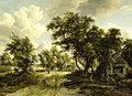Meindert Hobbema - Cottage beside a Track through a Wood NTIV ASCT 35124.jpg