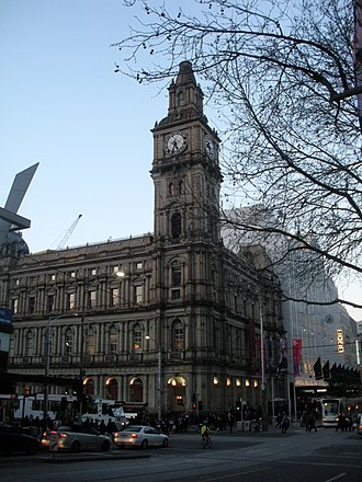 Architecture of Melbourne - The Melbourne General Post Office was constructed during the Victorian Gold Rush and now serves as a H&M store.