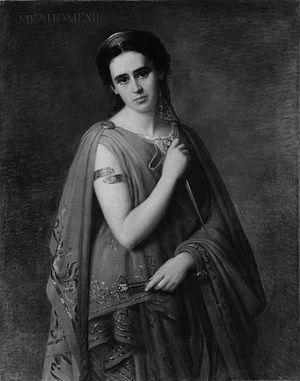 Melpomene - Melpomene by Joseph Fagnani (1819–1873) (1869)