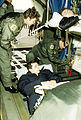 Members of the 2nd Aeromedical Evacuation Squadron from Rhein-Main Air Base, aboard a C-141B Starlifter aircraft, prepare victims of the war in Bosnia-Herzegovina for departure after an overnight stay F-3234-SPT-93-000007-XX-0030.jpg