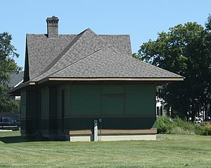 National Register of Historic Places listings in Menominee County, Michigan - Image: Menominee Michigan Railroad Station