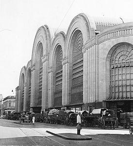 Mercado de Abasto de Buenos Aires, ca 1945 (AGNA)