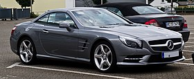 Mercedes-Benz SL 500 BlueEFFICIENCY Sport-Paket AMG (R 231) – Frontansicht, 8. August 2012, Velbert.jpg