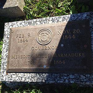 Meredith Miles Marmaduke - Image: Meridith Marmaduke tombstone