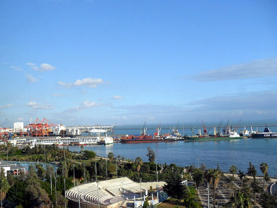 Mersin harbor from the west