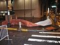 Metal debris near Peachtree Center Marta station - 14 March 2008 Downtown Atlanta storm.JPG