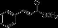 Strukturformel von Zimtsäuremethylester