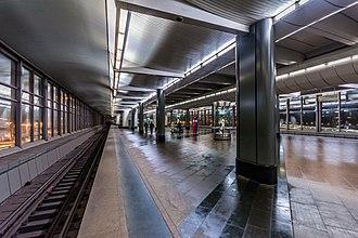 Vorobyovy Gory (Moscow Metro) - Image: Metro MSK Line 1 Vorobyovy Gory