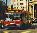 Metroline bus, Dennis Dart Plaxton Pointer, route C2, Langham Place, London, September 1998.jpg