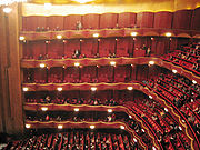 Auditorium of the Metropolitan Opera