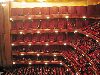 Metropolitan Opera - Auditorium of the Metropolitan Opera House at Lincoln Center for the Performing Arts