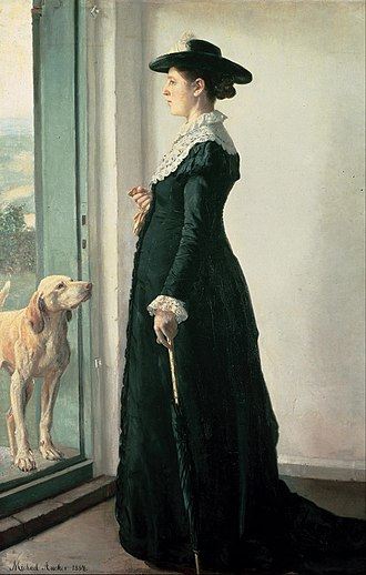 1884 in art - Image: Michael Ancher Portrait of my wife. The painter Anna Ancher Google Art Project