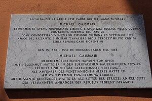 Michael Gaismair - Grave of Michael Gaimair at Padua.