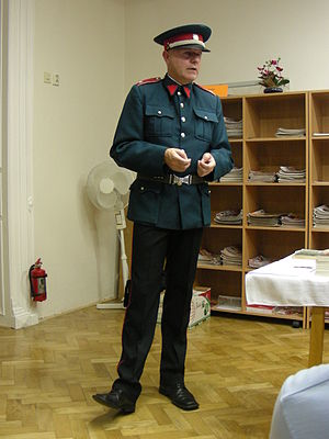 Četnické humoresky - Czech military and police historic Michal Dlouhý. He co-wrote the scenario and gave historical advice.